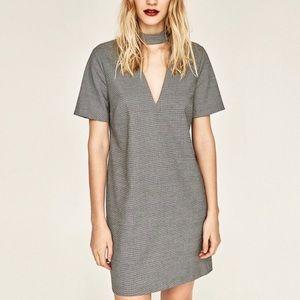 Zara chicken dress in gray
